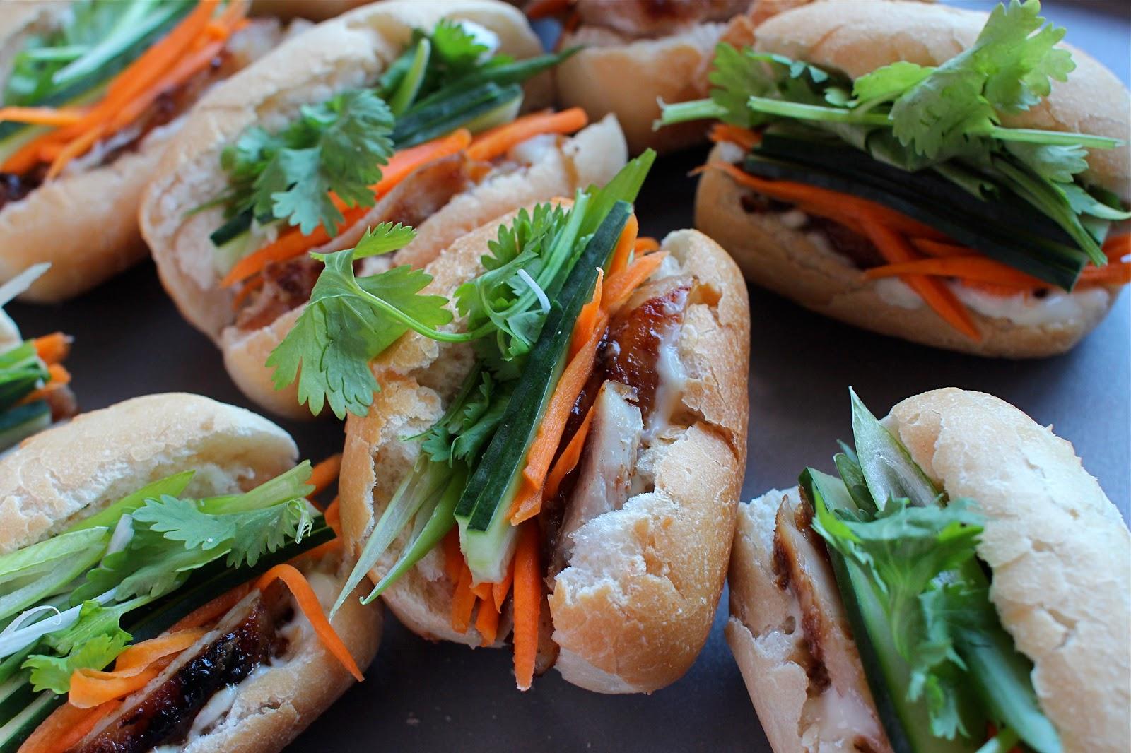 Banh Mi Mini Chicken Vietnamese Rolls