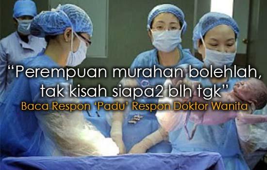 Respon Doktor Wanita Kenapa Doktor Lelaki Paling Ramai di Wad Besalin