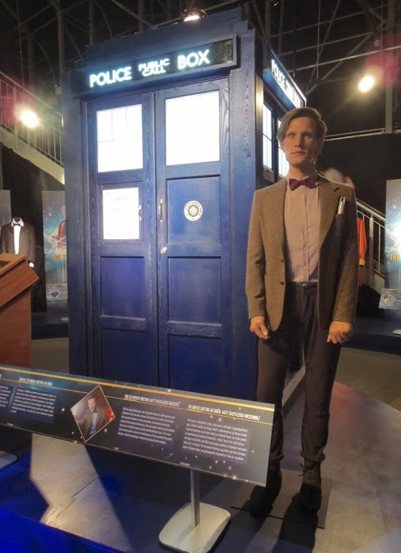 11th Doctor Who Matt Smith waxwork TARDIS
