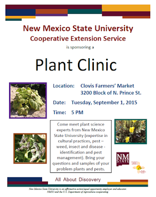 Advertising flyer for Clovis Plant Clinic