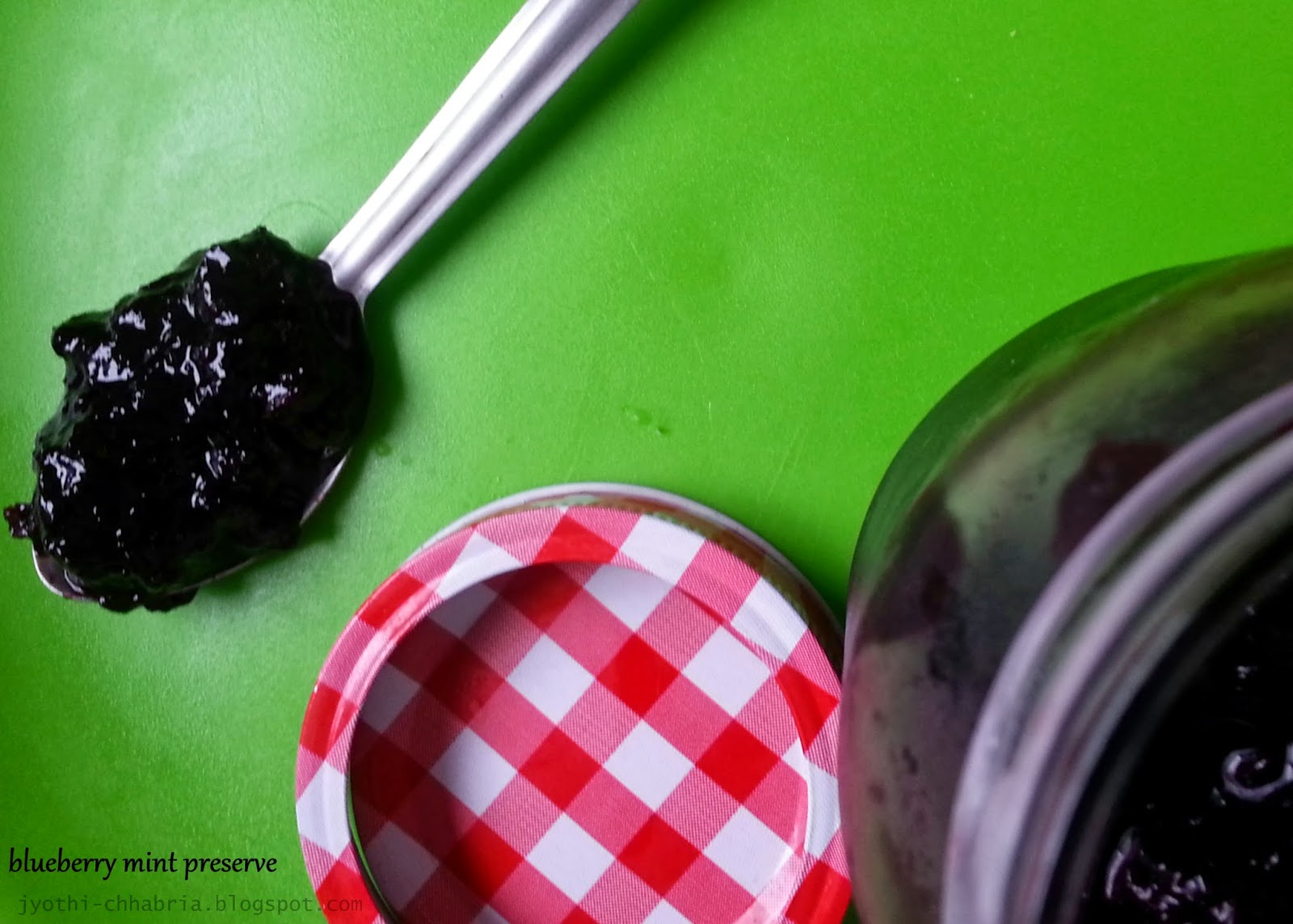 Blueberry Mint Preserve Recipe