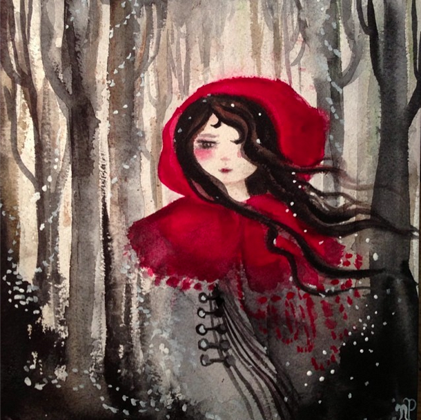 Fairy Tale Watercolor Painting by Nicole Piar