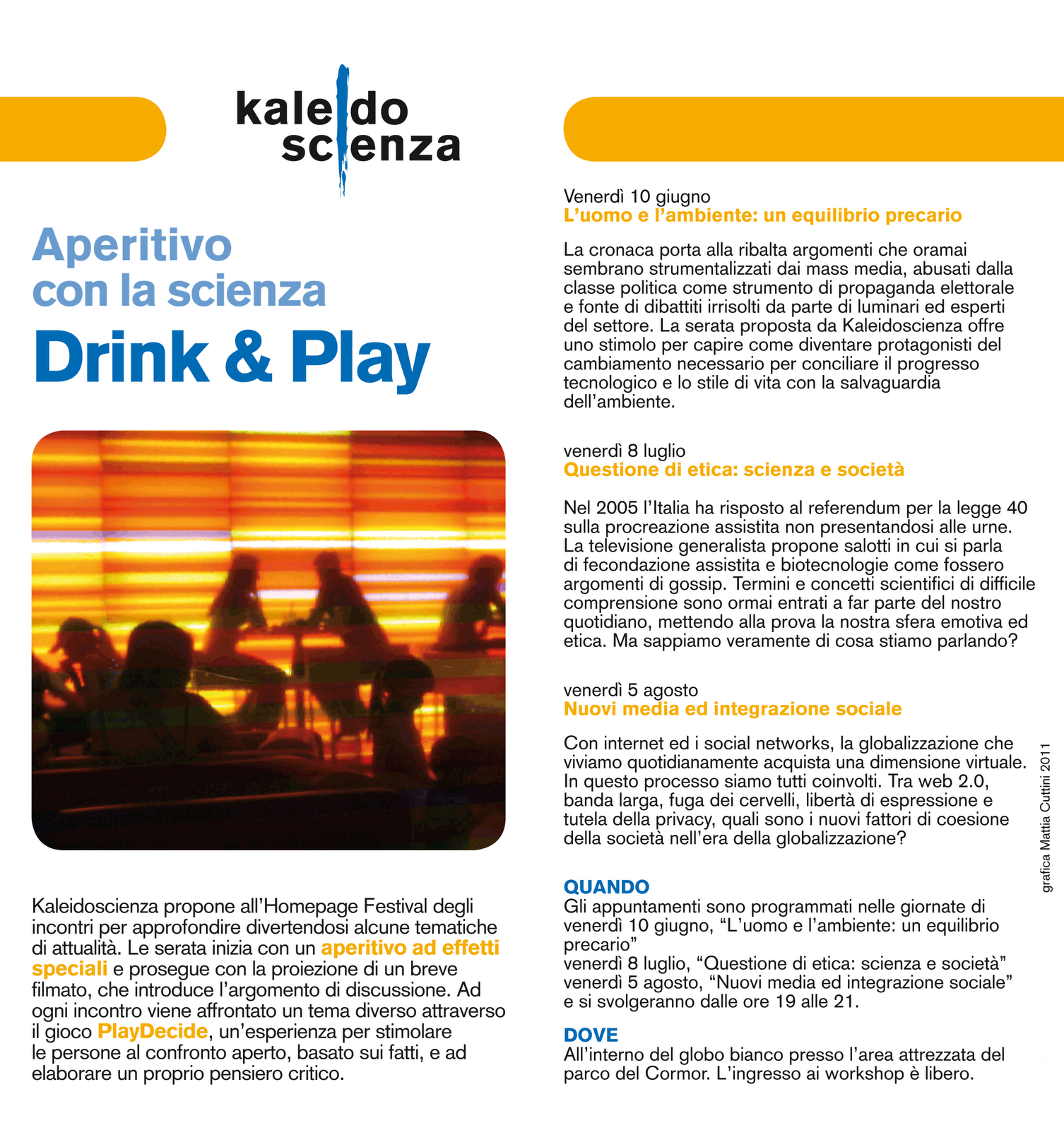 Aperitivo con la scienza - Drink&Play