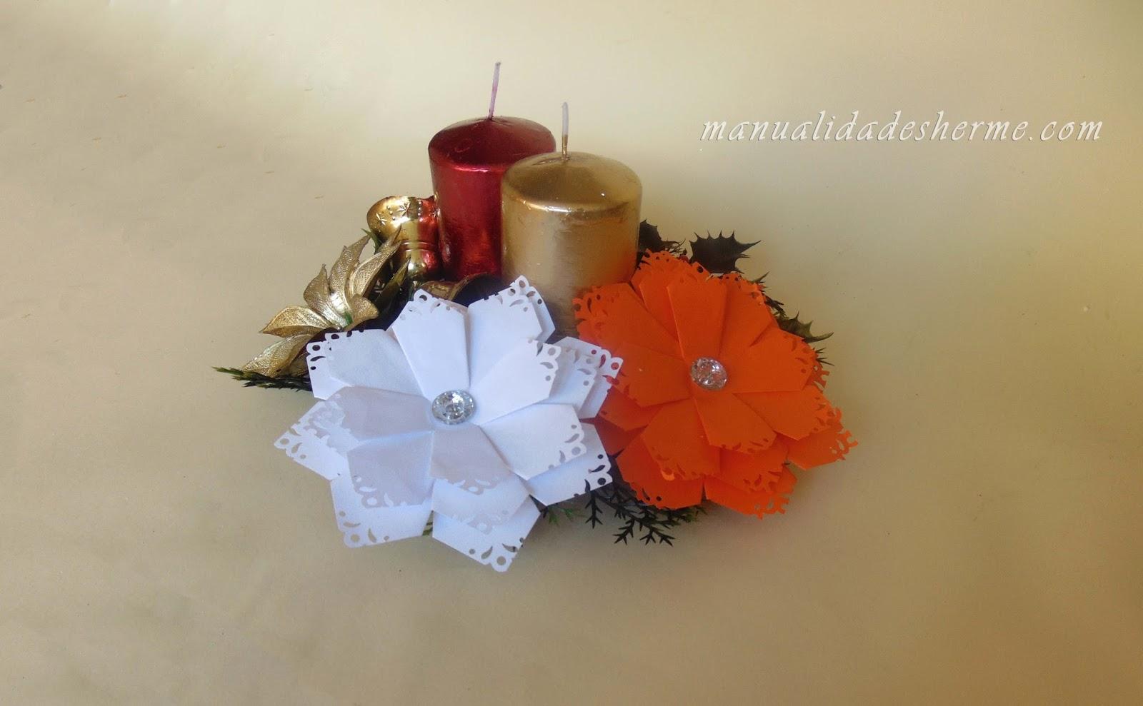 Manualidades herme como hacer flores para navidad - Manualidades navidenas paso a paso ...