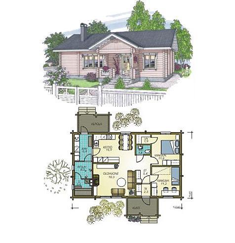 Dise os de casas planos gratis casa superficie 97 m2 for Disenos de casas de playa pequenas