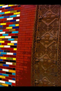 South Loop art deco brick wall