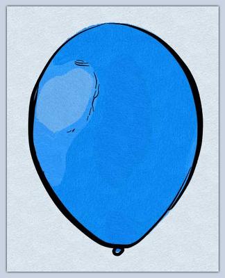 Un globus blau (Toni Arencón i Arias)