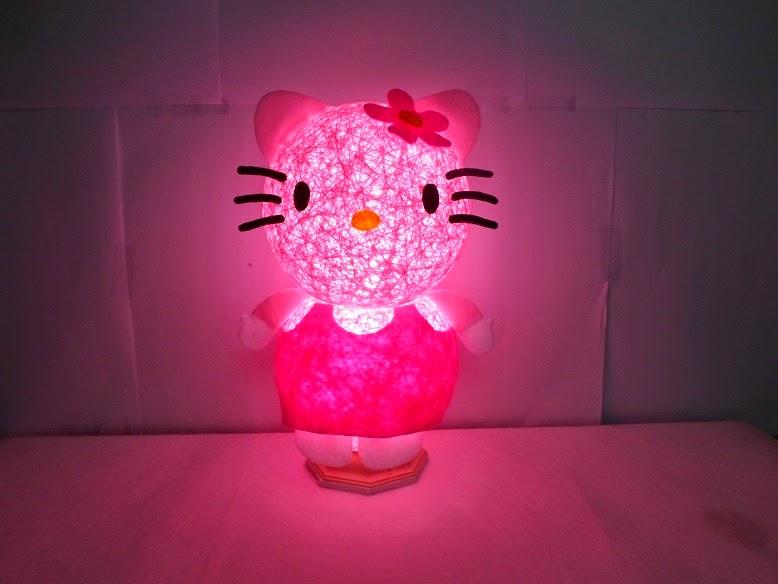 Gambar lampu tidur hello kitty warna pink
