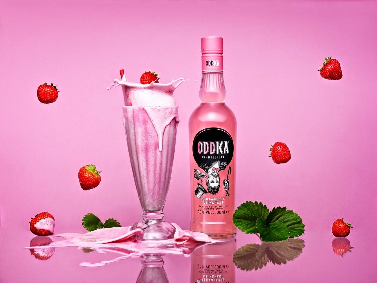 Friday cocktail strawberry milkshake vodka cocktails with for Cocktail 8 2