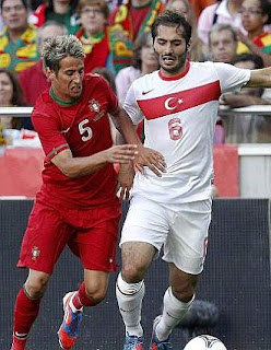 Hamit Altintop playing for Turkey vs Portugal