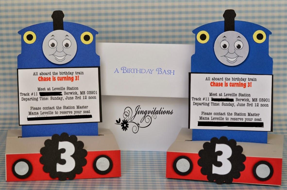 Jingvitations: thomas the train
