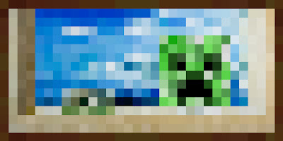 Minecraft creeper picture in game