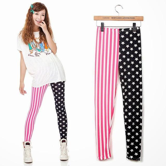 New American flag printed leggings