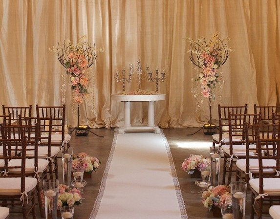 wedding ceremony, blush wedding flowers, Urban Enoteca wedding, Luxury wedding, Flora Nova Design