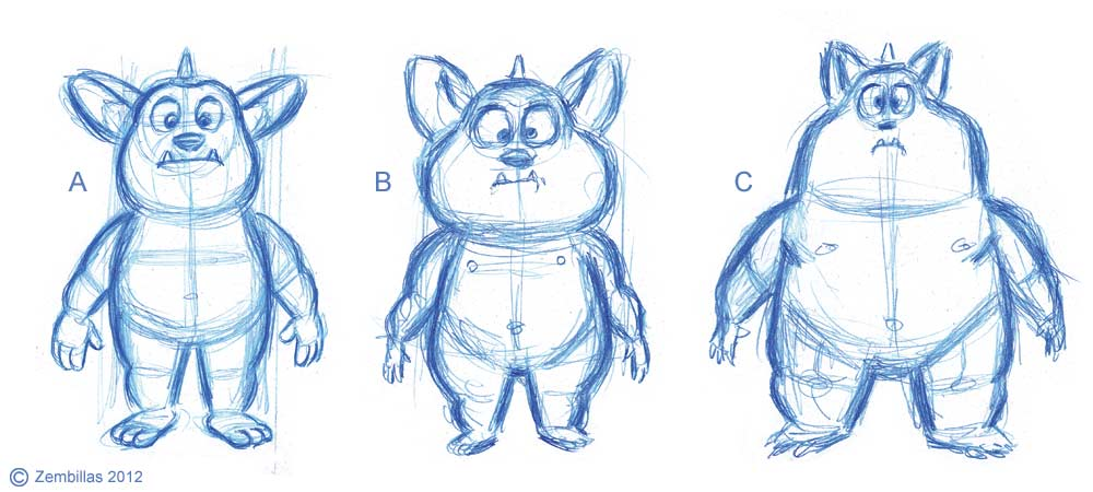 Character Design Basics : Charles zembillas quick lesson in character design