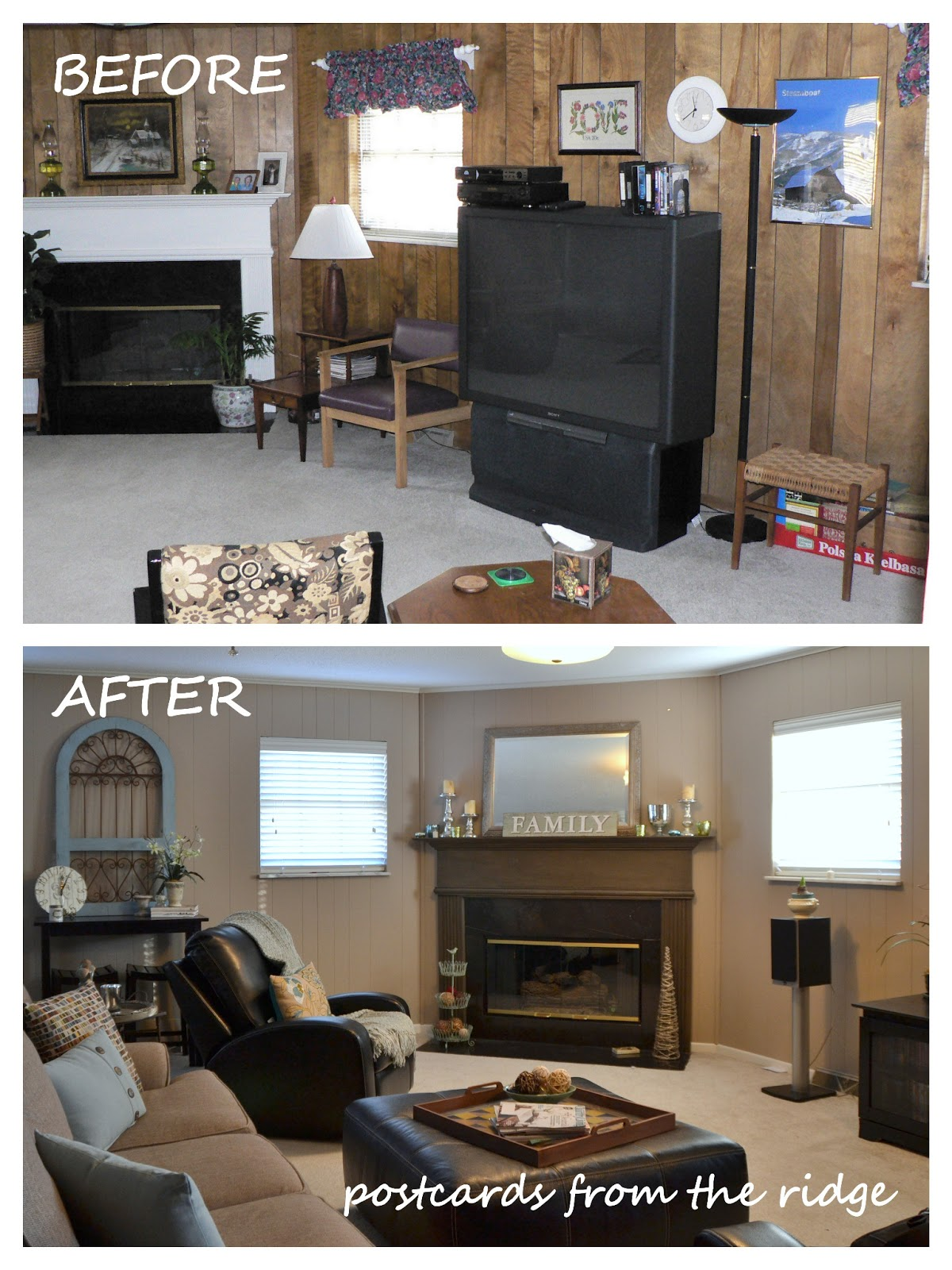 Painted Wood Paneling Before And After WB Designs - Painted Wood Paneling Before And After WB Designs
