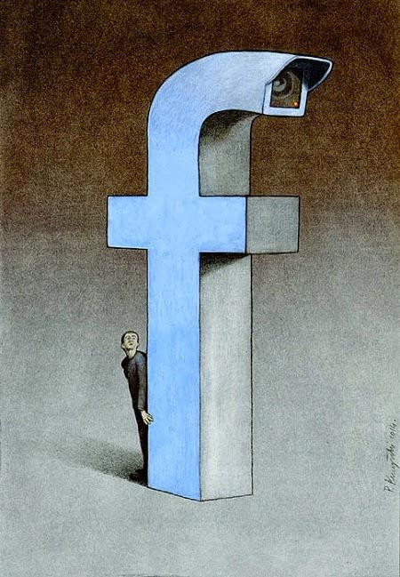 Bộ tranh phơi bày mặt trái của Facebook