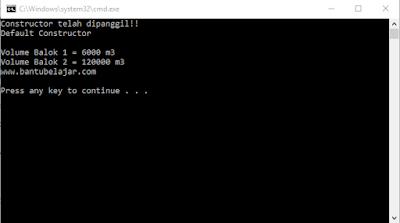 Default Constructor Pada C++