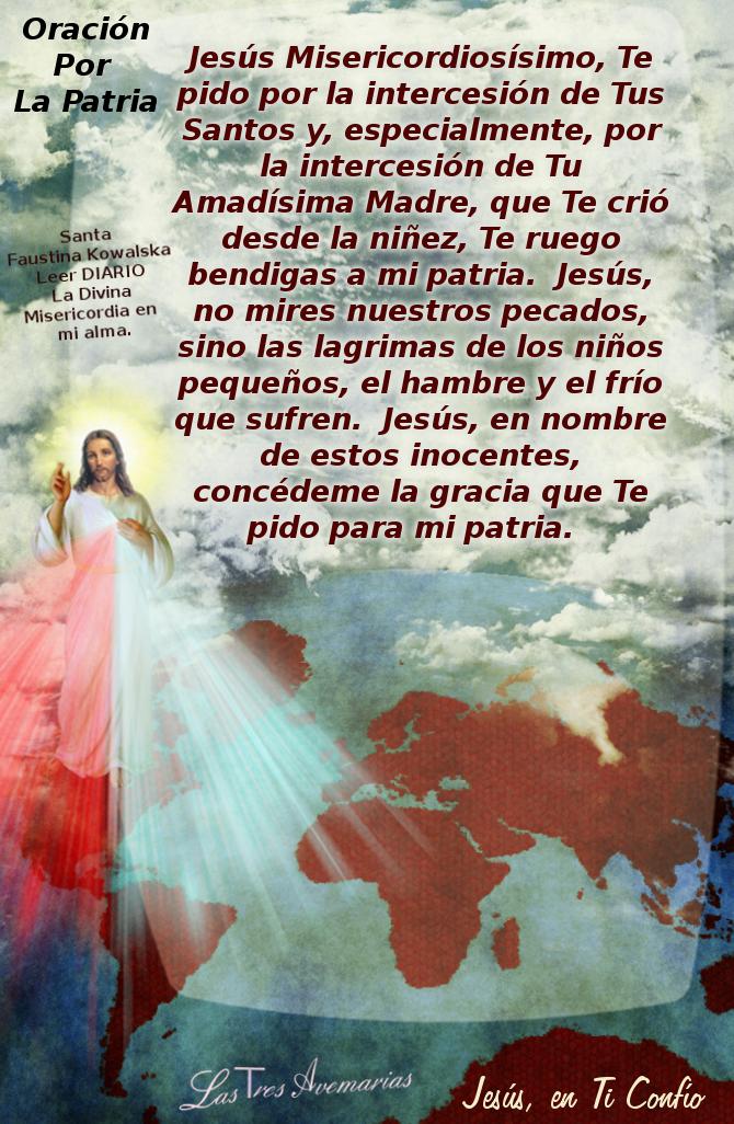 imagensita de la divina misericordia con oracion para la patria