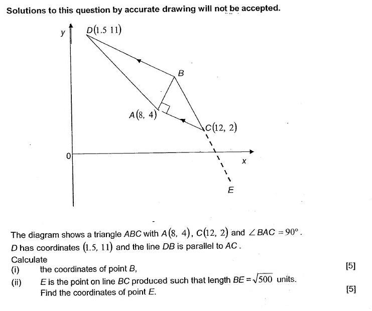 O level maths q11 challenging o level additional maths a maths challenging o level additional maths a maths coordinate geometry questions with solutionsanswers ccuart Images