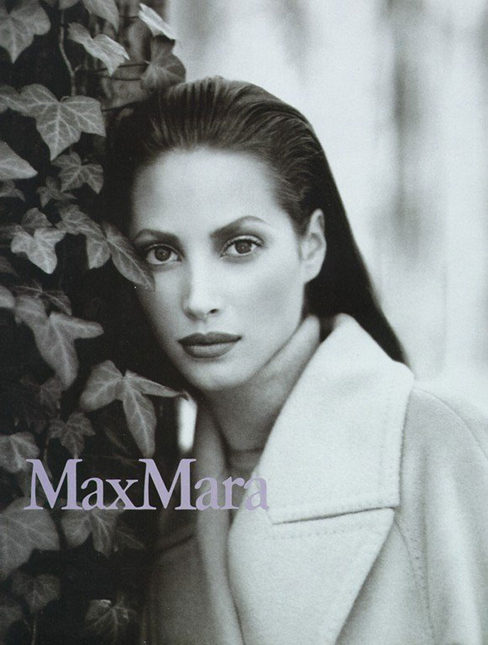 Christy Turlington photographed by Max Vadukul for MaxMara Fall 1995