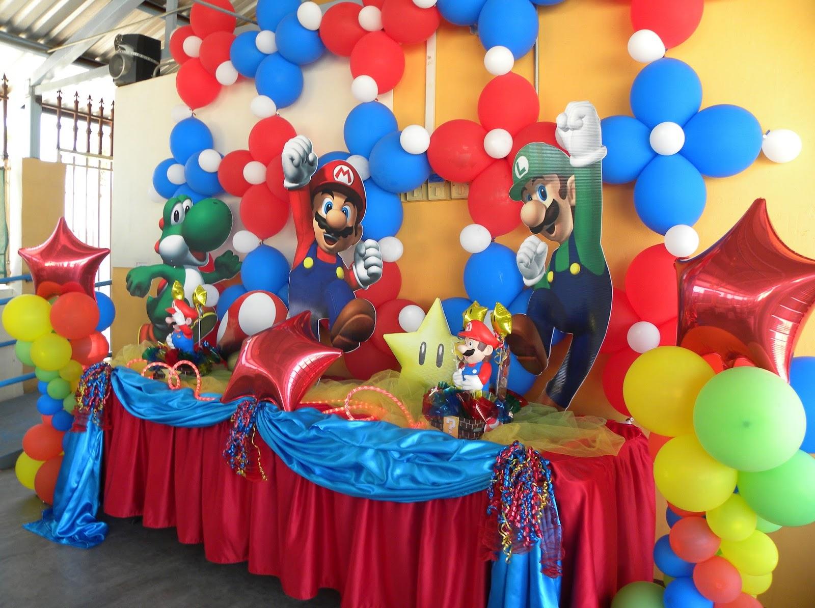 Fiestas infantiles decoradas con mario bros - Decoracion mesas fiestas ...