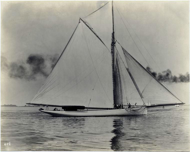 Puritan, sloop de 1885 5-Puritan+trial+trip+1885