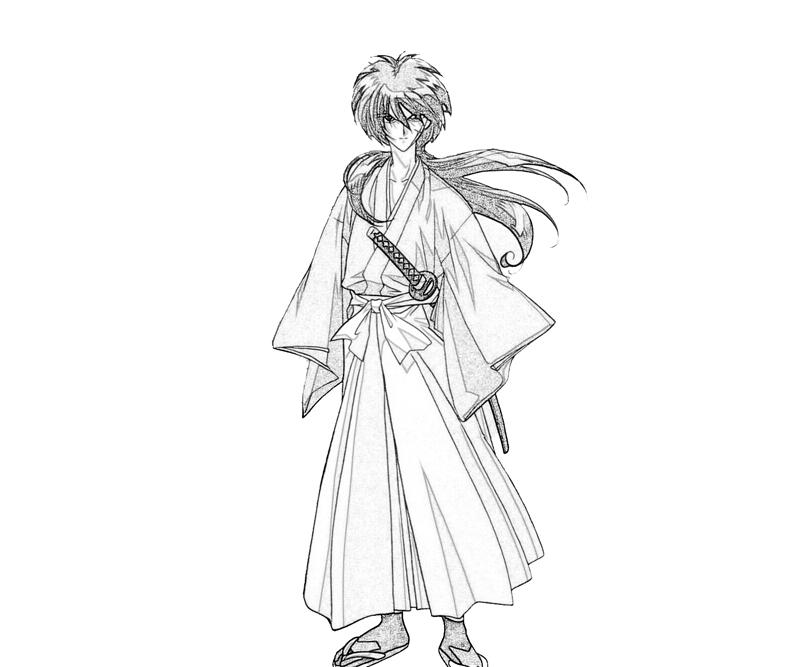 coloring pages for rurouni kenshin - photo#8