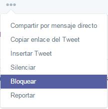 como bloquear en twitter