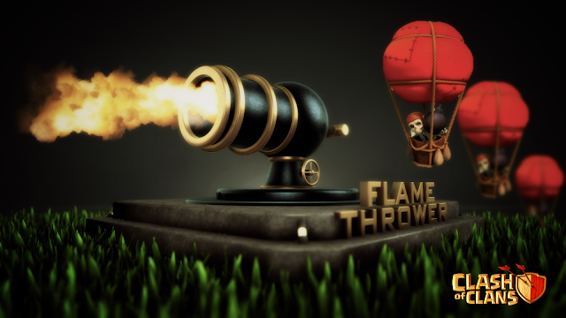 13342-Flame Thrower and Balloons Clash of Clans HD Wallpaperz