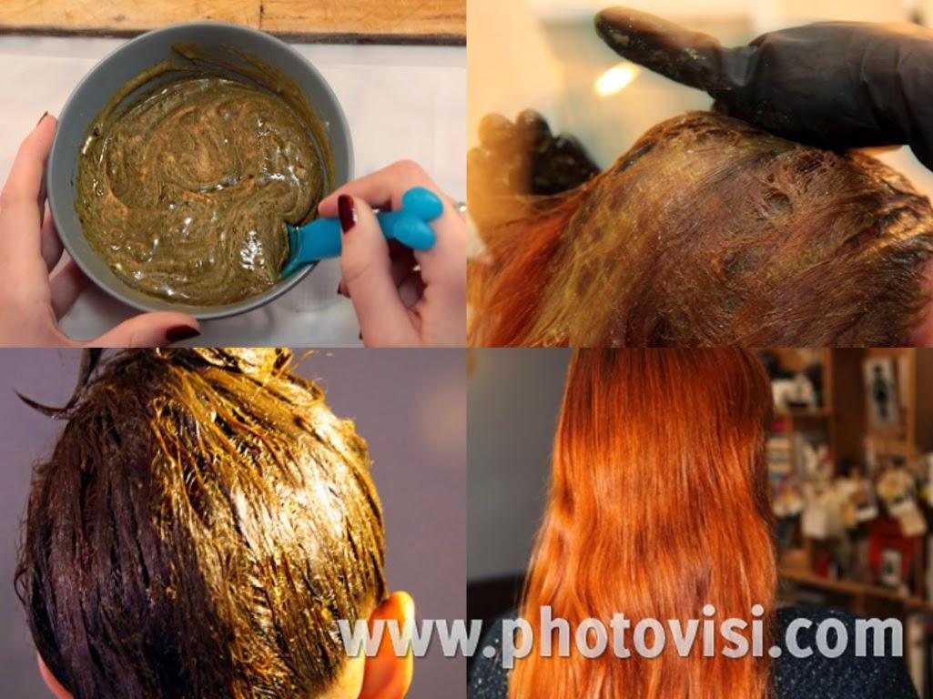 طريقة عمل صبغة شعر حمراء طبيعية