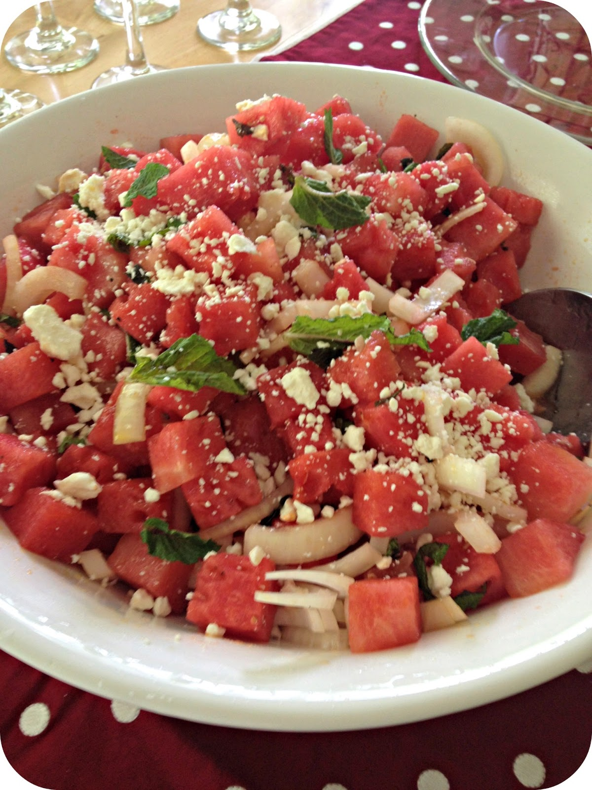 Everyday Thoughts: Watermelon and Mint Salad
