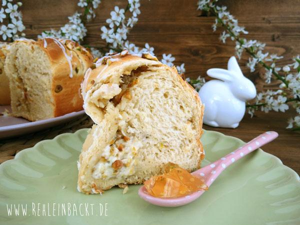 Oster-Hefekranz mit Apfel-Pistazien-Füllung, rehlein backt