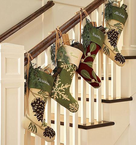 Escadas decoradas parte 1 barraco chic - Decorar la casa para navidad ...