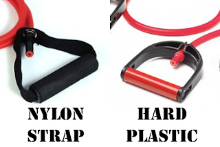 Tapout XT Nylon Strap and Hard Plastic Resistance Band Handle Comparison