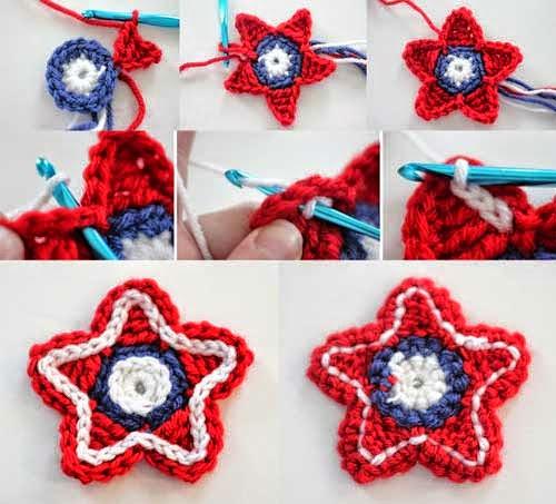 Cómo hacer estrellas tejidas con ganchillo