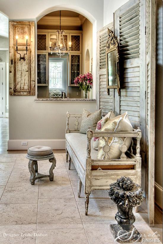 Rustik Chateaux Decorar El Recibidor Con Muebles Antiguos