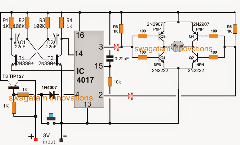 Toy Using a Motor Timer Circuit