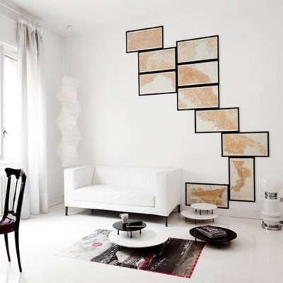 World map wall art at home and interior design ideas cute all images via a google image search or pinterest gumiabroncs Image collections
