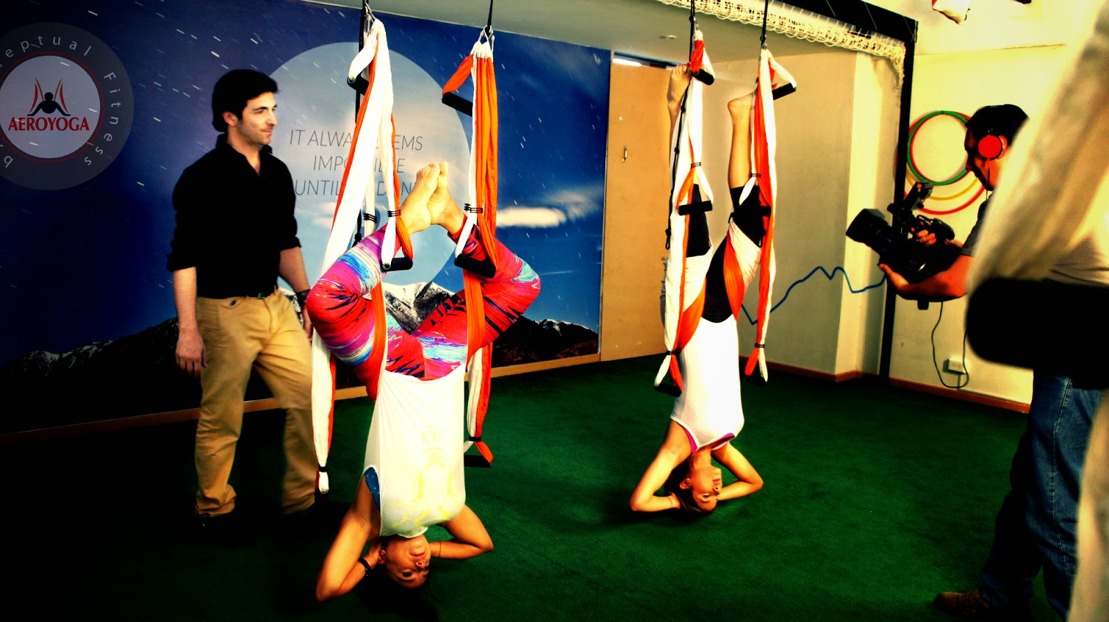 RAFAEL MARTINEZ: AERIAL YOGA TV PRESS HEALTH BEAUTY WELLNESS