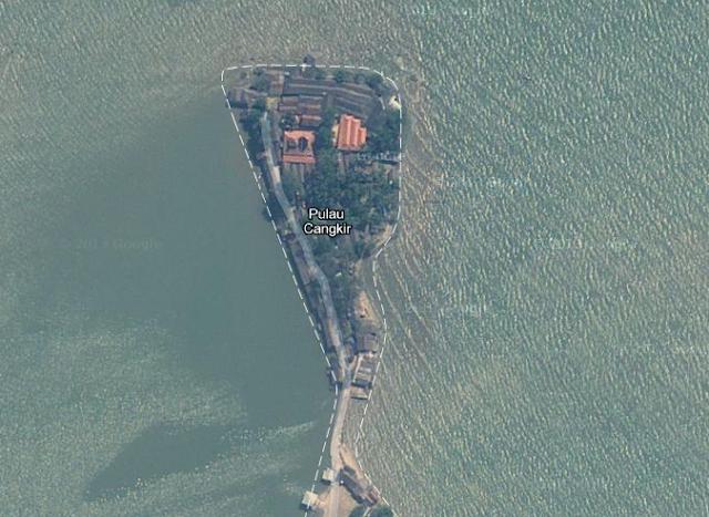 Pulau Cangkir yang berada di Kabupaten Tangerang, Banten