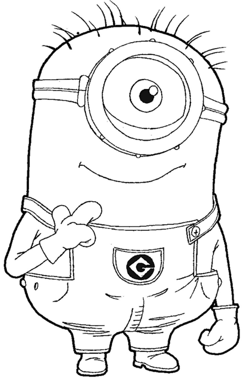 coloring minion pages with santa - photo#34
