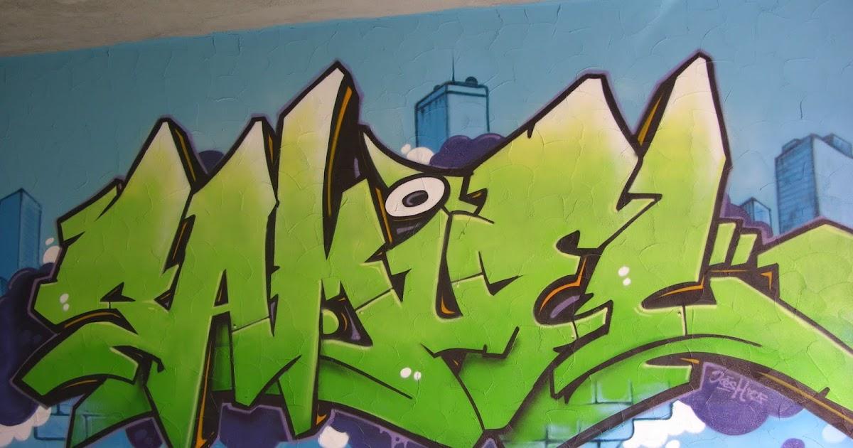 Graffiti pour une chambre d 39 enfant avec un personnage hip hop - Graffiti prenom gratuit ...