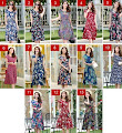 New 2016 13-Design Spring Plus Size Short Sleeve Floral Print Rayon Silk Cotton Dress