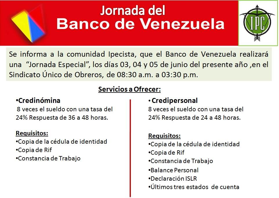 Noticias upel caracas jornada del banco de venezuela for Banco banco de venezuela