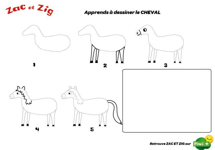 Pour dessiner un cheval - Cheval a dessiner facile ...