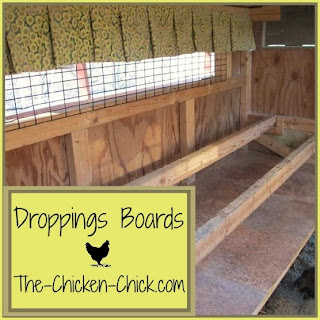 Droppings boards in the chicken coop serve several important purposes, including keeping the coop cleaner and identifying health problems in the flock.