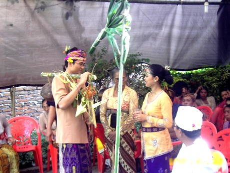Balinese wedding ceremony procession