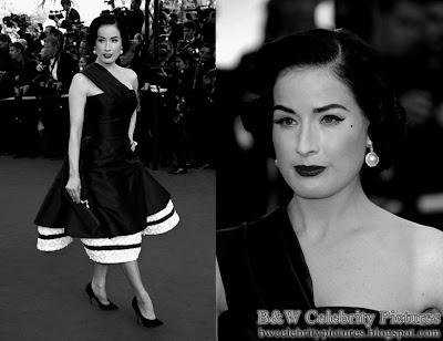 Assorted B&W pictures of Dita Von Teese picture 3