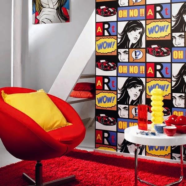 Papel pintado papel pintado funny walls for Papel pintado comic
